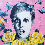 Twiggy with roses